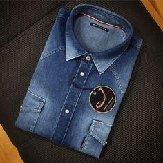 Denim Shirt by Jacob Cohen Denim Button Up, Button Up Shirts, Kanken Backpack, Denim Shirt, Seasons, Bags, Fashion, Handbags, Moda
