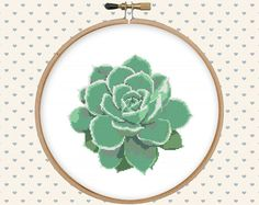 Succulent cross stitch pattern cross stitch PDF by GentleFeather                                                                                                                                                                                 Mais