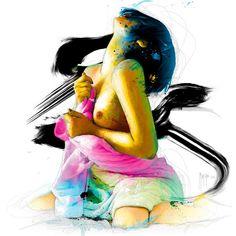 "artforadults: "" Under Pleasure by Patrice Murciano "" Murciano Art, Patrice Murciano, Mosaic Crosses, Photo D Art, Cross Paintings, Art Graphique, Silhouette, Skull Art, Artist Painting"