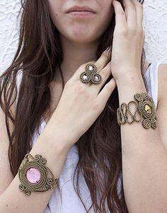 Zippers. Bracelets & ring by Daniela Villafuerte