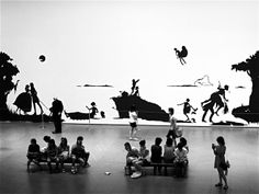 Kara Walker, Gone: An Historical Romance of a Civil War as it Occurred b'tween the Dusky Thighs of One Young Negress and Her Heart Kara Walker, Walker Art, Kehinde Wiley, Environmental Graphics, Historical Romance, Mural Art, Museum Of Modern Art, Moma, Art Pictures