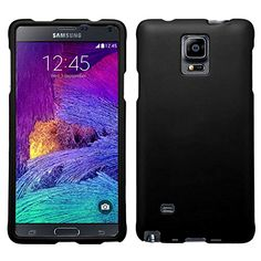 "myLife Classic Black {Slim, Professional and Modern} 2 Piece Snap-On Rubberized Protective Faceplate Case for the Samsung Galaxy Note 4 ""All Ports Accessible"" myLife Brand Products http://www.amazon.com/dp/B00U2FUY6I/ref=cm_sw_r_pi_dp_KVxhvb1D1XBKR"
