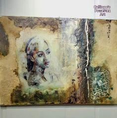 Χειροποίητος καμβάς με εφαρμοσμένες mixed media τεχνικές και τα οικολογικά υλικά σκλήρυνσης Powertex   Διαστάσεις: 60εκ(Υ)Χ80(Π)   Κωδικός Νο 100 Mixed Media Art, Painting, Painting Art, Mixed Media, Paintings, Painted Canvas, Drawings