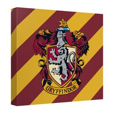 Harry Potter Gryffindor Crest Canvas Wall Art Harry Potter Gryffindor Crest