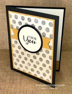 Masculine card to tell your favorite guy that you are thinking of him. Stampin' Up! Sending Thoughts stamp set is great to masculine cards when you combine with Urban Underground DSP