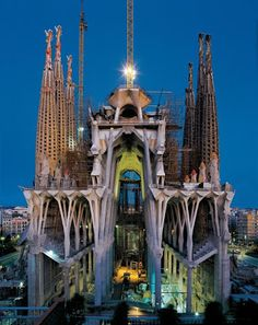 this side was covered in scaffolding when I was there. - Sagrada Familia, Barcelona