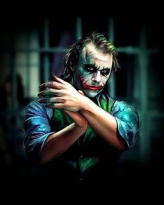 Heath Ledger's Joker - The Dark Knight Le Joker Batman, Der Joker, Joker Heath, Joker Art, Joker And Harley Quinn, Gotham Batman, Batman Art, Batman Robin, Batman Joker Wallpaper