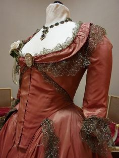 Keira Knightley pink ball gown detail in 'The Duchess', 2008. Designed by Michael O'Connor.