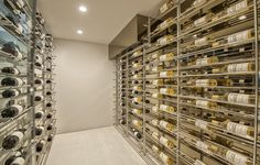 Tucked away beneath a staircase is a wine cellar that can comfortably accommodate more than 300 bottles of wine. The organization system is also superb. 1740 Bel Air Rd | Bel Air