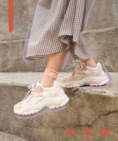 Cute chunky sneaker outfits Dad Shoes Are Trending & We Don't Know How to Feel - The Tiny Herbivore Chunky Shoes, Chunky Sneakers, White Sneakers, Leather Sneakers, Platform Sneakers, Sneaker Outfits, Nike Air Force 1, Dad Shoes, Golf Shoes