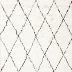 Marrakech Shag Ivory 6 ft. x 6 ft. Square Area Rug