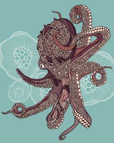 Octopus Bloom Mural - Valentina Ramos| Murals Your Way
