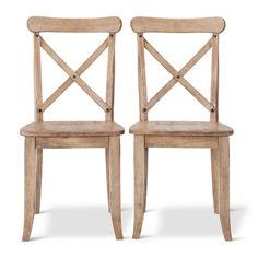 French Country X-Back Dining Chair (Set of 2)