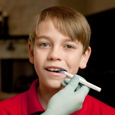 ARK's Oral Motor Probe - use this tool to provide tactile cues for articulation, sound production, and oral motor skills like tongue elevation and lateralization.  It also has three different surfaces (bumpy, striated, and smooth) for varied sensory input.   Using it in the picture here to work on jaw grading and stability.