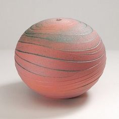Nicholas Bernard at Patina Gallery. Vessel, Wide Wavy Rose, Earthenware, Colored Slips and Oxides, by Ceramic Clay, Porcelain Ceramics, Ceramic Pottery, Pottery Art, Contemporary Ceramics, Modern Ceramics, Pottery Designs, Ceramic Artists, Clay Art