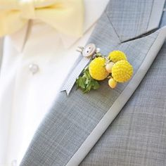Yellow boutonniere // Photo: L Photographie // Feature: The Knot Cat Wedding, Wedding Ties, Summer Wedding, Dream Wedding, Wedding Bells, Wedding Stuff, Wedding Fun, Wedding Attire, Wedding Dresses