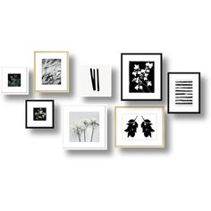 Black And White Art Set - Framed. by Artfully Walls Black And White Frames, White Art, Black White, Home Wall Decor, Color Mixing, Light In The Dark, House Design, Abstract, Interior