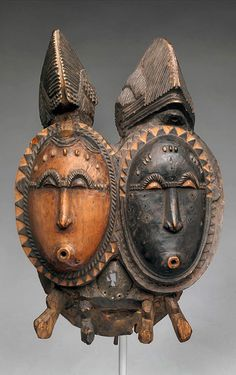 Mbolo Twin Mask – Baule peoples of the Ivory Coast