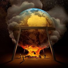 I call it Earth is Being Burnt. By Igor Morski