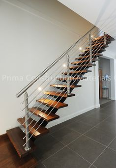 modern interior stair railing | Modern stainless steel handrail with ...