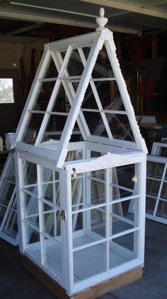 Mini Greenhouse  / Glass House by JodysReCreations on Etsy, $250.00
