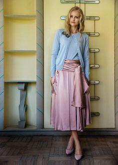 Schnittmuster: Vintage Faltenrock mit Schärpe - Midi-Röcke - Röcke - Damen - burda style