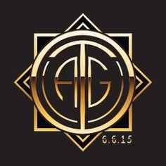 Gatsby/Art Deco Bat Mitzvah logo