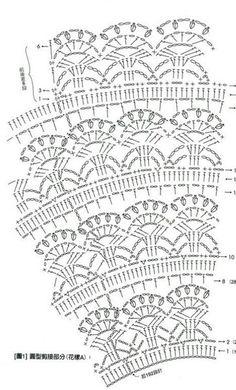 free baby crochet patterns Archives - Beautiful Crochet Patterns and Knitting Patterns Crochet Baby Dress Pattern, Crochet Baby Clothes, Crochet Diagram, Crochet Chart, Crochet Skirts, Crochet Tunic, Crochet Lace, Irish Crochet, Simple Crochet