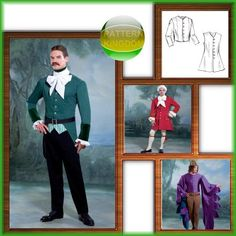 Butterick 4155 Medieval, 18th, 19thC. Jacket & Waistcoat Patterns
