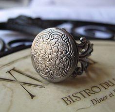 beautiful locket ring
