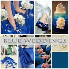 The color Blue for weddings says Royal and Luxurious! #wedding