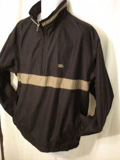addd125fad Mens DOCKERS GOLF windbreaker jacket Stain Defender Lined Large Black wTan   DOCKERS  BasicJacket Footjoy