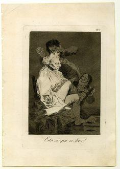 Los Caprichos de Goya .  Los ministros aguardan a última hora para enterarse de los negocios. A éste le peinan, calzan y duerme. ¿Quién desaprovecha el tiempo?