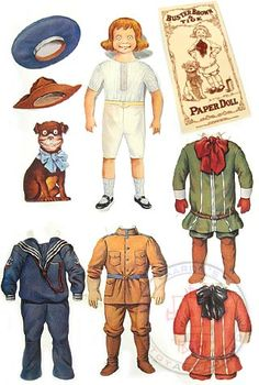 §§§ : Buster Brown Paper Doll ✄ 1902