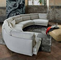 Discover the Kong Semi Circular Sofa by Swan Italia from UBER Interiors. Shop luxury corner unit sofas and sofas & day beds with FREE UK mainland delivery. Gebogenes Sofa, Sofa Uk, Lounge Sofa, Couches, Sectional Sofas, Circular Couch, Curved Couch, Curved Sectional, Bespoke Furniture