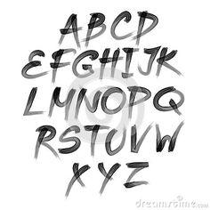 vector-alphabet-hand-drawn-letters-written-brush-50326324.jpg (400×400)