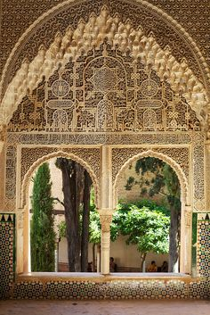 Room in the garden and garden in the room:-) Alhambra, Granada, Spain. Love the Moorish influence there...