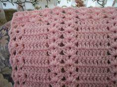 Pink Moscato Double Shell   AllFreeCrochetAfghanPatterns.com