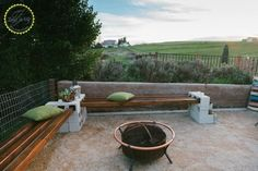 Cinder Block Bench For Your Backyard
