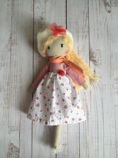 Reserved for Vicki ELSBETH Unique cloth doll to by Niniragdolls