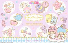 Little Twin Stars (Sanrio) Wallpaper Sanrio Wallpaper, Star Wallpaper, Little Twin Stars, Little Star, Pochacco, Star Images, Sanrio Characters, Cute Friends, My Melody