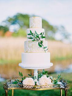 White lace wedding c