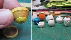 """Mini POTTERY from PAPER!  LOTS of TUTORIALS!!!"""