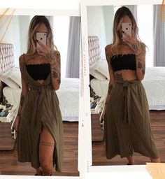 Classy Outfits, Trendy Outfits, Summer Outfits, Cute Outfits, Look Fashion, Girl Fashion, Fashion Outfits, Fashion Design, Hippie Outfits