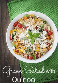 Greek Salad With Quinoa.. Yummy and Gluten Free