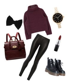 """""""Warm outfit for foggy winter"""" by sostudd on Polyvore featuring The Row, Mulberry, claire's, MAC Cosmetics and Marc by Marc Jacobs"""
