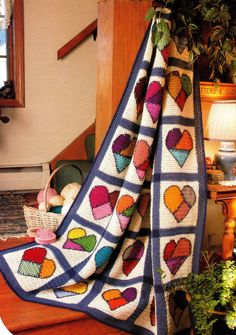 VALENTINE'S Mended Hearts Afghan/Crochet Pattern Instructions