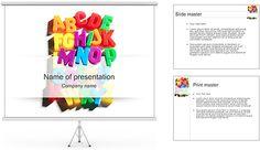 Alfabeto Modelos de apresentações PowerPoint