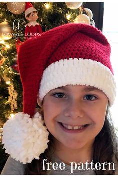Mesmerizing Crochet an Amigurumi Rabbit Ideas. Lovely Crochet an Amigurumi Rabbit Ideas. Crochet Santa Hat, Crochet Christmas Hats, Holiday Crochet, Crochet Gifts, Crocheted Hats, Free Christmas Crochet Patterns, Crochet Headbands, Crochet Hat Patterns, Crochet Beanie Hat