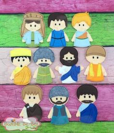 Bible story Finger Puppets complete set church by BumbleBeBee